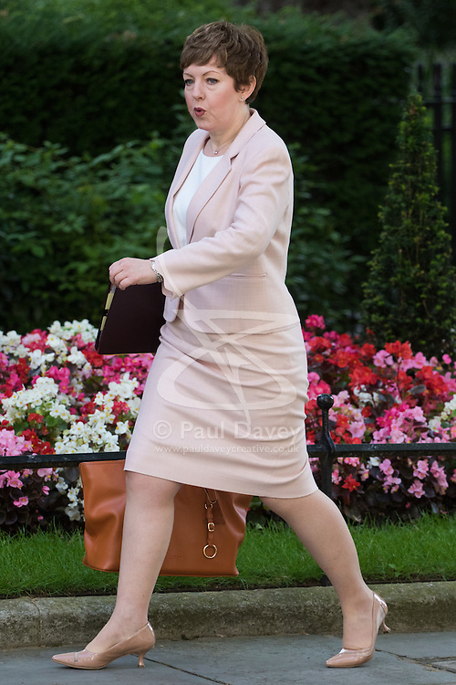 Leader of the House of Lords, Baroness Tina Stowell arrives at Prime Minister David Cameron's final cabinet meeting following Theresa May's anticipated takeover as Leader of the Conservative Party and Prime Minister