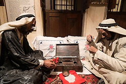 Pearl trading exhibit at Dubai Museum in United Arab Emirates