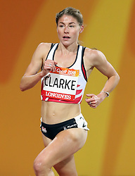 England's Rose Clarke in the Women's 3000m Steeplechase Final at the Carrara Stadium during day seven of the 2018 Commonwealth Games in the Gold Coast, Australia. PRESS ASSOCIATION Photo. Picture date: Wednesday April 11, 2018. See PA story COMMONWEALTH Athletics. Photo credit should read: Danny Lawson/PA Wire. RESTRICTIONS: Editorial use only. No commercial use. No video emulation.
