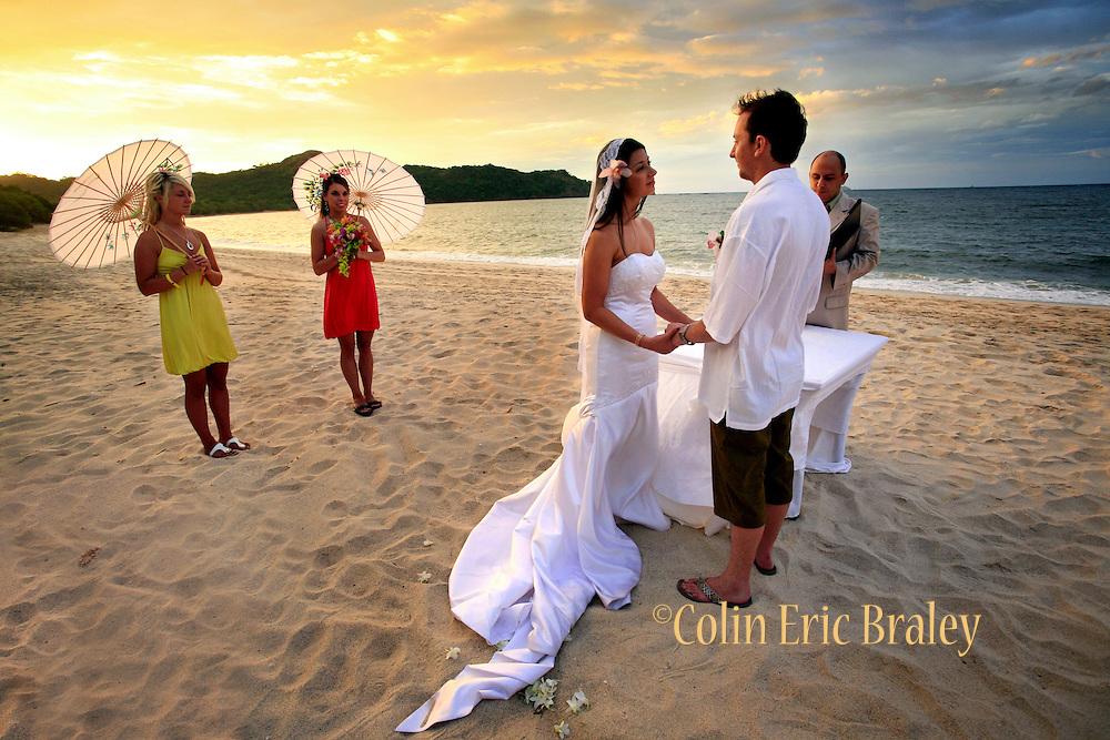 Beach wedding in Bahia del Sol, Costa Rica. Colin Braley/Photo
