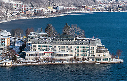THEMENBILD - das Grand Hotel Zell am See am Zeller See, aufgenommen am 5. Feber 2018 in Zell am See - Kaprun, Österreich // the Grand Hotel Zell am See at Lake Zell, Zell am See Kaprun, Austria on 2018/02/05. EXPA Pictures © 2018, PhotoCredit: EXPA/ JFK