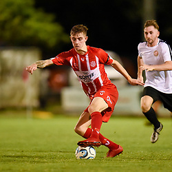 BRISBANE, AUSTRALIA - APRIL 8:  during the NPL Senior Men's Round 9 match between Olympic FC and Redlands United on April 7, 2018 in Brisbane, Australia. (Photo by Olympic FC / Patrick Kearney)