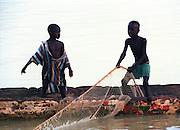 Fishermen and Boat - Dakar Beach Senegal