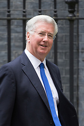 Downing Street,  London, June 27th 2015. Defence Secretary Michael Fallon leaves the first post-Brexit cabinet meeting at 10 Downing Street.