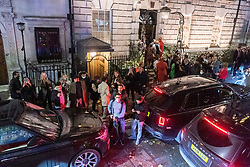 © Licensed to London News Pictures. 29/10/2020. London, UK. Guests leave Annabel's Club in Berkley Square at 10pm due to the current Covid-19 curfew imposed on the hospitality industry. Photo credit: Ray Tang/LNP