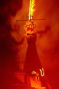 Zozobra, aka Old Man Gloom, burns as part of the Santa Fe Fiesta, Santa Fe, New Mexico