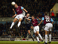Photo: Scott Heavey.<br />West Ham V Crewe. Nationwide First Division. 17/03/2004.<br />Thomas Repka clears the danger