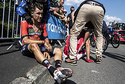 July 8, 2018 - La Roche-Sur-Yon, France - HAUSSLER Heinrich (AUS) of Bahrain - Merida during stage 2 of the 105th edition of the 2018 Tour de France cycling race, a stage of 182.5 kms between Mouilleron - Saint-Germain and La Roche-Sur-Yon on July 08, 2018 in La Roche-Sur-Yon, France, 8/07/2018 (Credit Image: © Panoramic via ZUMA Press)