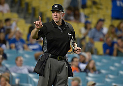 June 22, 2017 - Los Angeles, California, U.S. - Home plate umpire Lance Barksdale during a Major League baseball game between the New York Mets and the Los Angeles Dodgers at Dodger Stadium on Wednesday, June 21, 2017 in Los Angeles. Los Angeles. (Photo by Keith Birmingham, Pasadena Star-News/SCNG) (Credit Image: © San Gabriel Valley Tribune via ZUMA Wire)