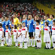 Estonia's players seen during their FIFA World Cup 2014 qualifying soccer match Turkey betwen Estonia at Sukru Saracoglu stadium in Istanbul September 11, 2012. Photo by TURKPIX