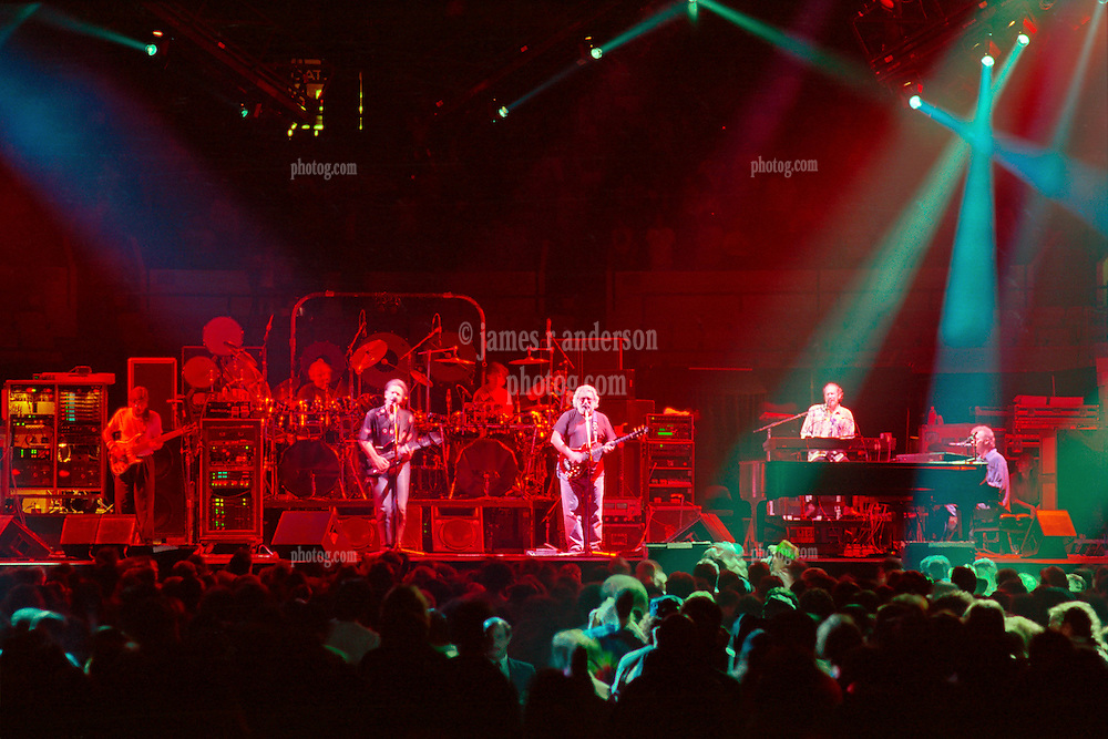 The Grateful Dead Live in Concert at Madison Square Garden 20 September 1990. Full Set and Stage View from the Lighting Booth, center of venue floor.