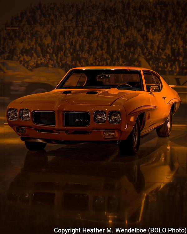 BOLO Photo<br /> Wild West Automotive Photography<br /> Vehicle Vault (2019)<br /> Orange Noir<br /> May 3, 2019: Parker, Colorado<br /> (1970 Pontiac GTO Judge: Vehicle Vault)