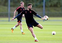 Arsenal's Olivier Giroud during the training session at London Colney.