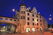 Germany, Bavaria, Munich Urban night shot