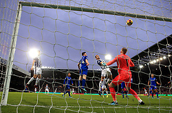 West Bromwich Albion's Craig Dawson misses as he heads at goal from close range during the Premier League match at The Hawthorns, West Bromwich.