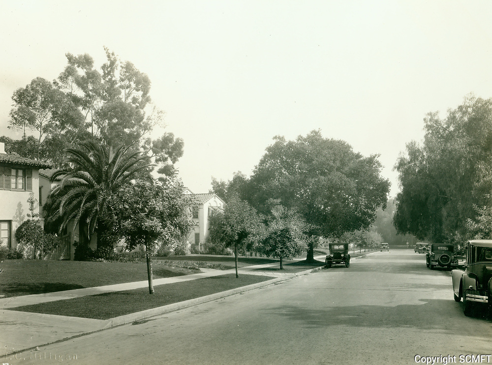 1929 Looking south on Outpost Dr. from Hillside Ave. in the Outpost Estates