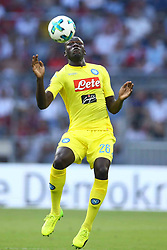 August 1, 2017 - Munich, Germany - Kalidou Koulibaly of Napoli during the first Audi Cup football match between Atletico Madrid and SSC Napoli in the stadium in Munich, southern Germany, on August 1, 2017. (Credit Image: © Matteo Ciambelli/NurPhoto via ZUMA Press)