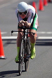 Northern Ireland's Xeno Young in action during the Men's Individual Time Trial at Currumbin Beachfront on day six of the 2018 Commonwealth Games in the Gold Coast, Australia.