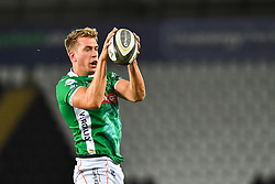 Federico Ruzza of Benetton Treviso claims the lineout<br /> <br /> Photographer Craig Thomas/Replay Images<br /> <br /> Guinness PRO14 Round 4 - Ospreys v Benetton Treviso - Saturday 22nd September 2018 - Liberty Stadium - Swansea<br /> <br /> World Copyright © Replay Images . All rights reserved. info@replayimages.co.uk - http://replayimages.co.uk