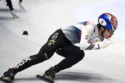 February 8, 2019 - Torino, Italia - Dae Heaon Hwaing during ISU World Cup Short Track Turin - 500 meter Men Preliminaries. (Credit Image: © Nicolò Campo/Lapresse via ZUMA Press)