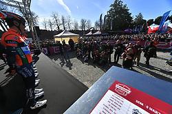 March 9, 2019 - Siena, Italia - Gian Mattia D'Alberto / lapresse.09-03-2019 Siena.Sport.Gara ciclistica Strade Bianche 2019 .nella foto: i corridori al podio firma..Gian Mattia D'Alberto  / lapresse.2019-03-09 Siena.Strade Bianche 2019 .in the photo: the Ryders at the signing podium. (Credit Image: © Gian Mattia D'Alberto/Lapresse via ZUMA Press)
