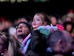 Massaoke were on stage to entertain children at the Bairns Afore party in Princes Street Gardens as the curtain raiser to the Capital's Hogmanay celebrations.<br /> <br /> © Dave Johnston / EEm