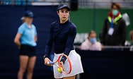 Christina McHale of the United States in action against Bianca Andreescu of Canada during her first round match at the 2021 Viking International WTA 500 tennis tournament on June 22, 2021 at Devonshire Park Tennis in Eastbourne, England - Photo Rob Prange / Spain ProSportsImages / DPPI / ProSportsImages / DPPI