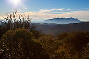 View of Montserrat, La Mola, a mountain in the park of Sant Llorenç del Munt i l'Obac - La Mola, Mountain, Barcelona, Catalonia, Spain