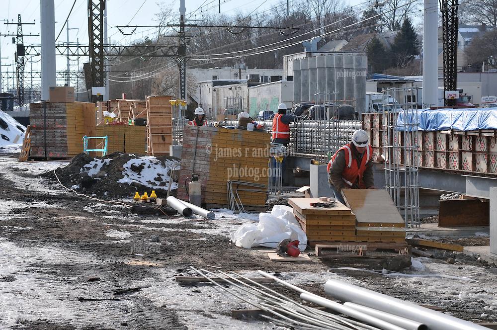 Construction Progress Railroad Station Fairfield Metro Center - Site visit 7 of once per month Chronological Documentation.