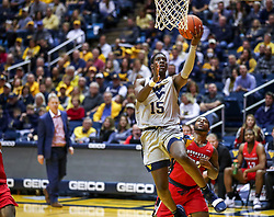 Dec 1, 2018; Morgantown, WV, USA; West Virginia Mountaineers forward Lamont West (15) shoots a lay up during the first half against the Youngstown State Penguins at WVU Coliseum. Mandatory Credit: Ben Queen-USA TODAY Sports