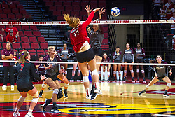 BLOOMINGTON, IL - September 28: Sydney Holt during a college Women's volleyball match between the ISU Redbirds and the Southern Illinois Salukis on September 28 2019 at Illinois State University in Normal, IL. (Photo by Alan Look)