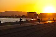 Jogging Along The Boardwalk