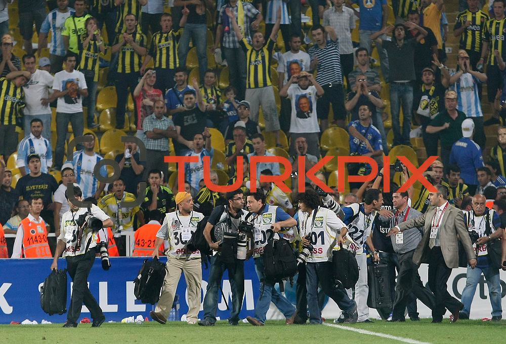 Fenerbahce's and Shakhtar Donetsk's during their friendly match soccer match Fenerbahce between Shakhtar Donetsk at Sukru Saracaoglu stadium in Istanbul Turkey on Thursday 21 July 2011. Photo by TURKPIX