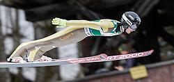 04.02.2017, Heini Klopfer Skiflugschanze, Oberstdorf, GER, FIS Weltcup Ski Sprung, Oberstdorf, Skifliegen, im Bild Kevin Bickner (USA) // Kevin Bickne of United States during mens FIS Ski Flying World Cup at the Heini Klopfer Skiflugschanze in Oberstdorf, Germany on 2017/02/04. EXPA Pictures © 2017, PhotoCredit: EXPA/ Peter Rinderer