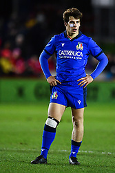 Giulio Bertaccini of Italy <br /> <br /> Photographer Craig Thomas/Replay Images<br /> <br /> U20 Six Nations - Wales v Italy  - Friday 31st January 2020 - Stadiwm Zip World (Parc Eirias) - Colwyn Bay<br /> <br /> World Copyright © Replay Images . All rights reserved. info@replayimages.co.uk - http://replayimages.co.uk