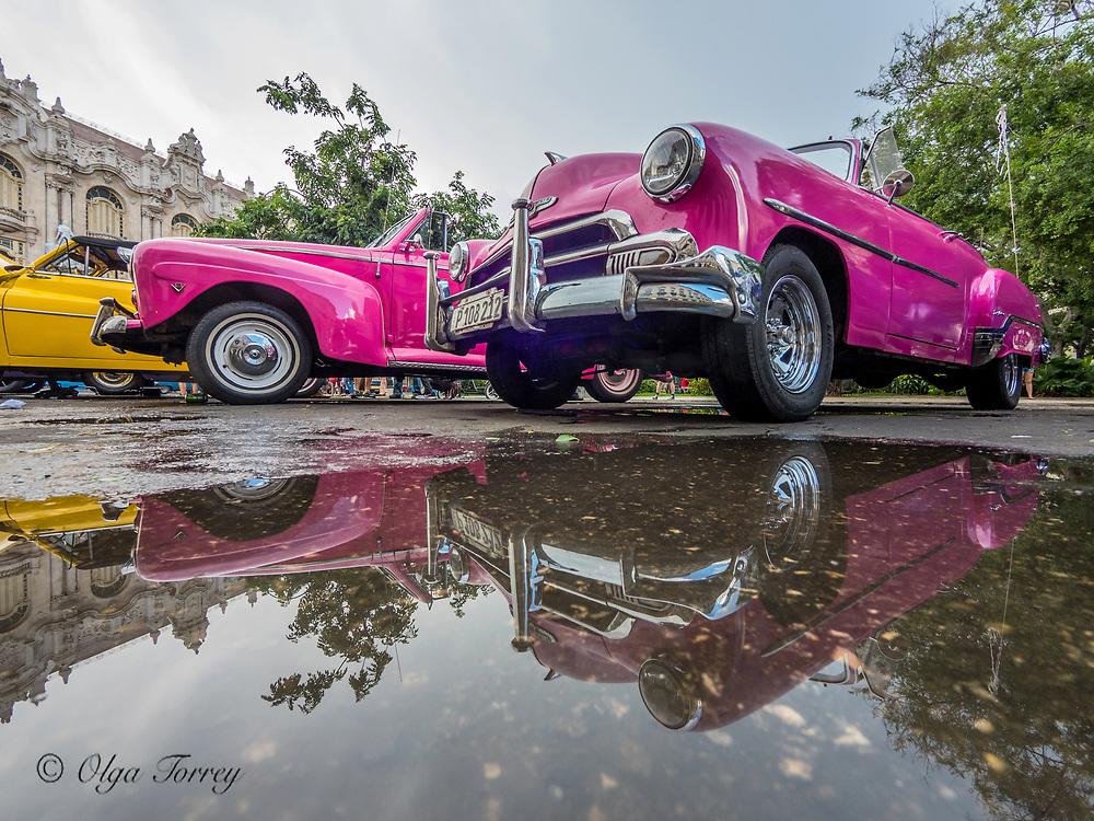 Old vintage cars in Havana, the Republic of Cuba.