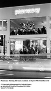 Pharmacy Bar. Notting Hill Gate, London. 16 April 1998. Film98211f10<br />© Copyright Photograph by Dafydd Jones<br />66 Stockwell Park Rd. London SW9 0DA<br />Tel 0171 733 0108