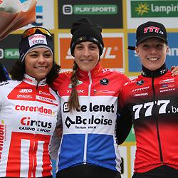 26-12-2019: Wielrennen: Wereldbeker veldrijden: Zolder: Lucinda Brand wint na Namen ook de wereldbeker in Zolder. Ceylin Alvarado en Annemarie Worst completeren het podium.