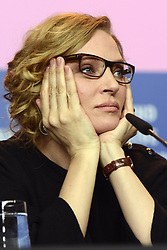 610377252<br /> Uma Thurman during the Nymphomaniac Volume I press conference at the 64th Berlin International Film Festival / Berlinale 2014, Berlin, Germany, Sunday, 9th February 2014. Picture by  imago / i-Images<br /> UK ONLY