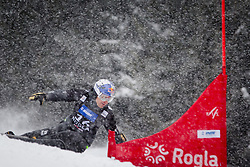Benjamin Karl (AUT) competes during Qualification Run of Men's Parallel Giant Slalom at FIS Snowboard World Cup Rogla 2016, on January 23, 2016 in Course Jasa, Rogla, Slovenia. Photo by Ziga Zupan / Sportida