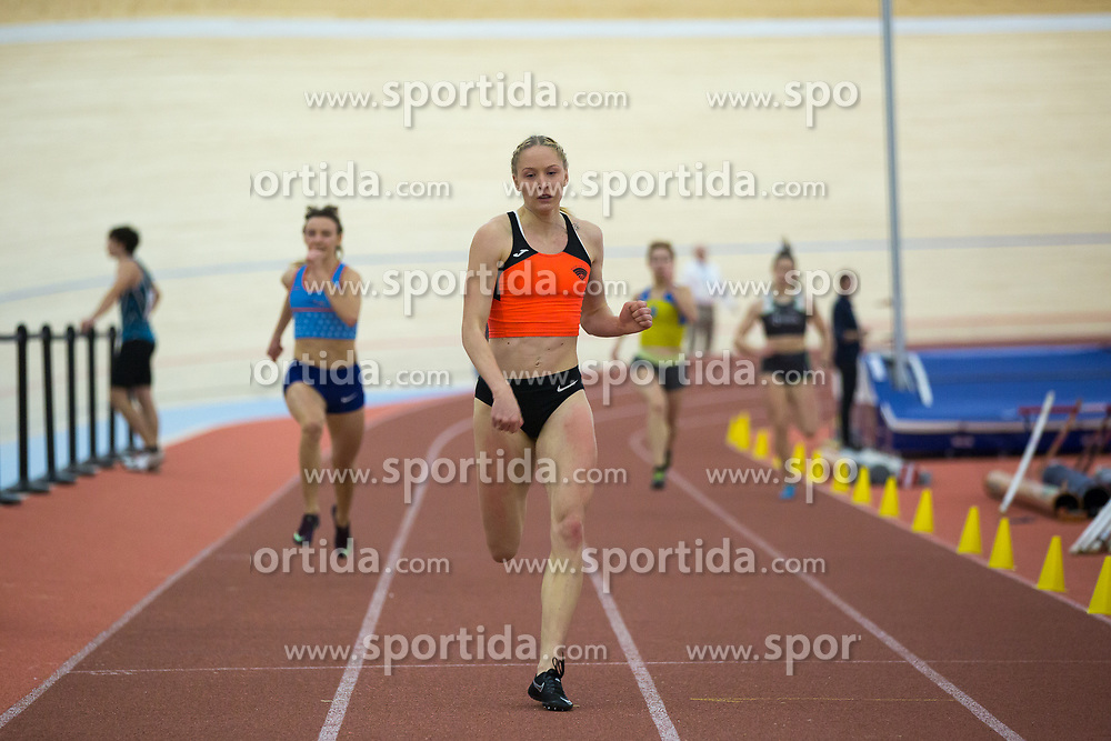 Agata Zupin competes during day 2 of Slovenian Athletics Indoor Championships 2020, on February 23, 2020 in Novo mesto, Slovenia. Photo by Peter Kastelic / Sportida