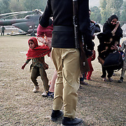 Victim of the earthquake was transported by a U.S. Forces helicopter to Islamabad for medical treatment.