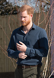 Prince Harry, Duke of Sussex visits  the Silverstone Circuit in Towcester, England to officially open The Silverstone Experience, a new immersive museum that tells the story of the past, present and future of British motor racing, on March 6, 2020.