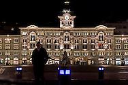 Trieste,Piazza Unità d'Italia di notte. Trieste, Italy Unit Square at night.