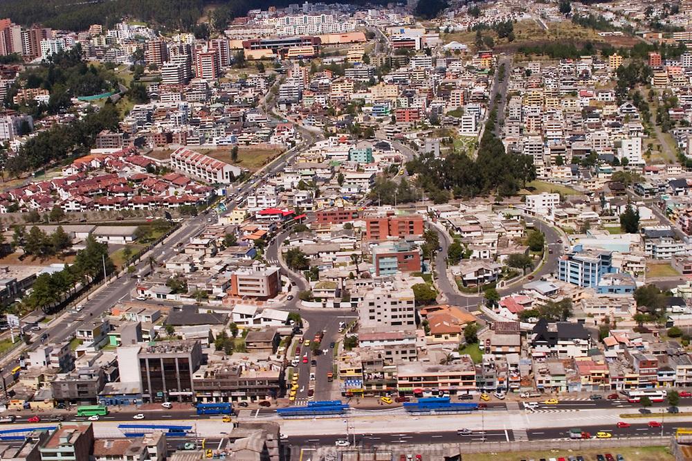 Aerial of Quito, Ecuador.
