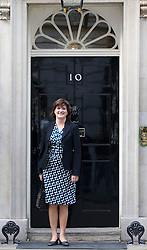 © Licensed to London News Pictures. 09/04/14 Newly-promoted Nicky Morgan MP will now attend cabinet meetings as minister for women, following the mini re-shuffle after Maria Miller's resignation from Cabinet. FILE PICTURE DATED 07/10/2013. London, UK. Conservative MP Nicky Morgan, the new Economics Secretary to the Treasury, is seen on Downing Street in London today (07/10/2013) during a ministerial shuffle. Photo credit: Matt Cetti-Roberts/LNP