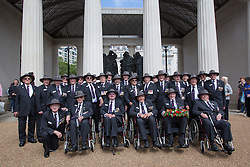 © licensed to London News Pictures. London, UK 30/06/2012. Australian veterans visiting Bomber Command Memorial in Green Park in the name of 55,573 Bomber Command airmen who gave their lives in the Second World. The memorial was opened by the Queen earlier this week. Photo credit: Tolga Akmen/LNP