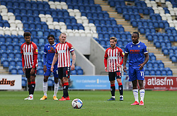 Callum Harriott of Colchester United prepares to take his penalty - Mandatory by-line: Arron Gent/JMP - 03/10/2020 - FOOTBALL - JobServe Community Stadium - Colchester, England - Colchester United v Oldham Athletic - Sky Bet League Two