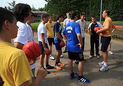 Vratar Gorazd Skof na obisku na otroski rokometni akademiji Urosa Z. v Dolenjskih toplicah, 27. junija 2008, Dolenjske toplice, Slovenija. (Photo by Vid Ponikvar / Sportal Images)