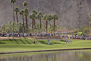 22 JAN 15 The 18th fairway at The Humana Challenge at PGA West, in LaQuinta, California.(photo credit : kenneth e. dennis/kendennisphoto.com)